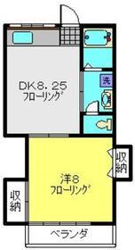 シャトルハウスⅢ1階Fの間取り画像