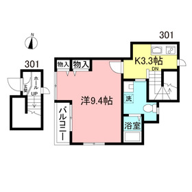 SHビル3階Fの間取り画像