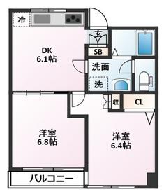 笹塚駅 徒歩1分7階Fの間取り画像
