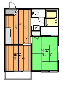 プレザンスコート2階Fの間取り画像
