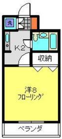 ベルエムズ2階Fの間取り画像