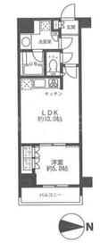 東日本橋駅 徒歩2分6階Fの間取り画像