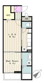 フォンターナII2階Fの間取り画像
