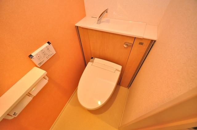 プロシード巽 清潔感のある綺麗なトイレにはウォシュレット標準装備です。