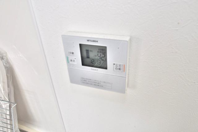 TSカーサテルッツオ 給湯リモコン付。温度調整は指1本、いつでもお好みの温度です.