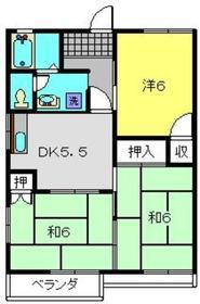 オプティハイツA2階Fの間取り画像