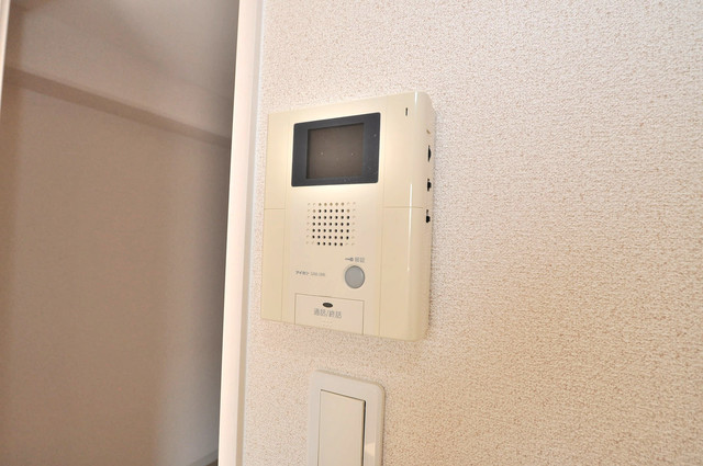 トリニティ東野 モニター付きインターフォンでセキュリティ対策もバッチリ。