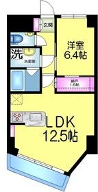 津田沼サニーマンション3階Fの間取り画像