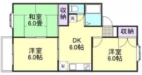 アパートメント三冠 B1階Fの間取り画像