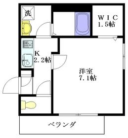 RIVERSIDE・新宿2階Fの間取り画像