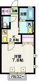 パル目黒2階Fの間取り画像