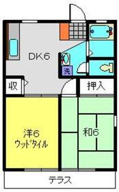 上大岡グリーンハイツC棟1階Fの間取り画像