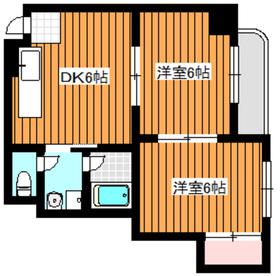 メゾンモナーク2階Fの間取り画像