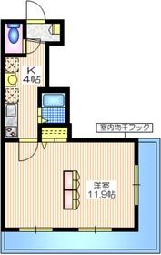 メゾン ル ヴェール1階Fの間取り画像