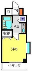 ヴァンテベール4階Fの間取り画像