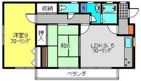 エスケイ貸家2階Fの間取り画像