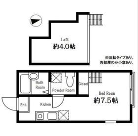 ハーミットクラブハウス和田町1階Fの間取り画像