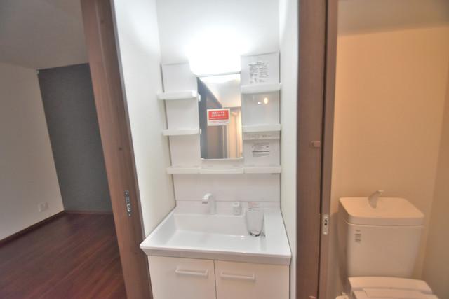 グロースコート弥刀 人気の独立洗面所はゆったりと余裕のある広さです。