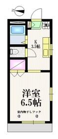 フラット・アキヤマ1階Fの間取り画像