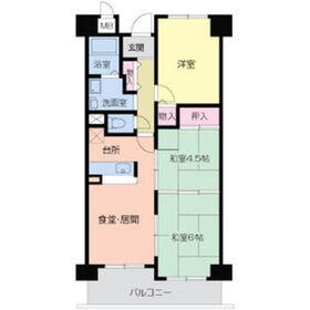 メゾンクリサンテーム3階Fの間取り画像