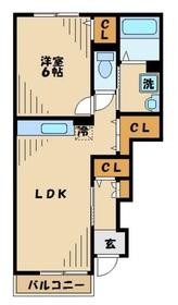 アルカディアB1階Fの間取り画像