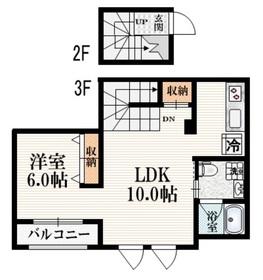 haramo Contatto2階Fの間取り画像