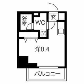 クラリッサ横浜WEST8階Fの間取り画像