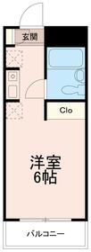 クレスト多摩川4階Fの間取り画像