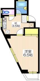 トキワハイツ2階Fの間取り画像