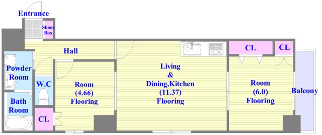 人気の全室フローリング。収納スペースも充実しています。
