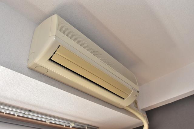 アベニューリップル長田Ⅱ 最初からエアコンが付いているなんてお得ですね