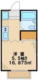 美樹ハイツ2階Fの間取り画像