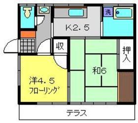 第一福井荘2階Fの間取り画像