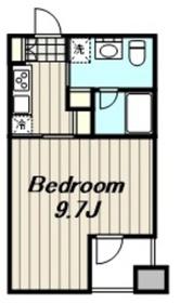 クォーツマンション6階Fの間取り画像