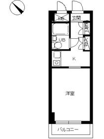 スカイコート横浜平沼1階Fの間取り画像