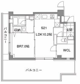 カスタリア中目黒6階Fの間取り画像