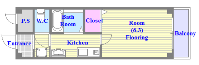 エムズコンフォート うれしいバス・トイレがセパレートの単身さん向けの間取りです。