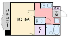 楠原ビル4階Fの間取り画像