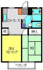 ポロハウスCコート2階Fの間取り画像