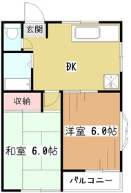 メゾン・コヤマ3階Fの間取り画像