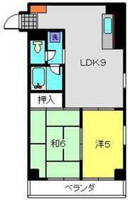 パークサイド岡村3階Fの間取り画像