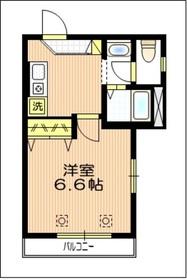 ドミールアッシュ2階Fの間取り画像