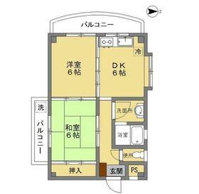 メゾンヴェルト II1階Fの間取り画像