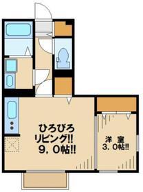 モナリエ平山1階Fの間取り画像