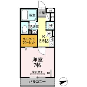 セジュール・オッツ3階Fの間取り画像