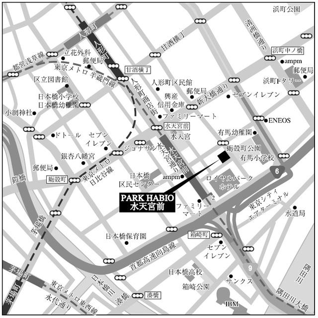 パークハビオ水天宮前案内図