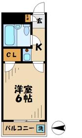 TISマンション堀之内 ティーアイエスマンションホリノウチ5階Fの間取り画像