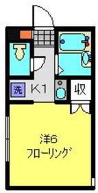 リリエンハイムⅢ1階Fの間取り画像