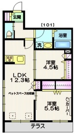 (仮称)世田谷区・給田5丁目メゾン1階Fの間取り画像
