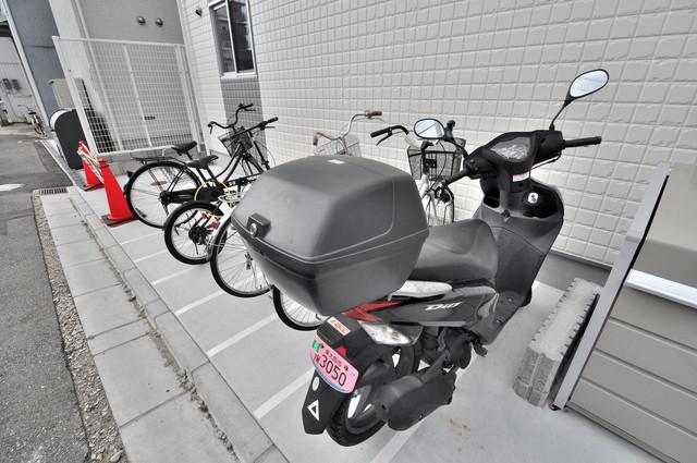 solana岸田堂 敷地内には専用の駐輪スペースもあります。